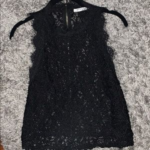 Zara sheer black lacey sheer tank NWOT